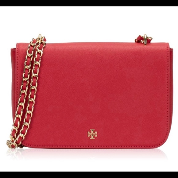 dfc8e753ee9 NWT Tory Burch Emerson Adjustable Shoulder bag Red